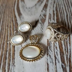 Jewelry - Mother-of-Pearl sterling silver set